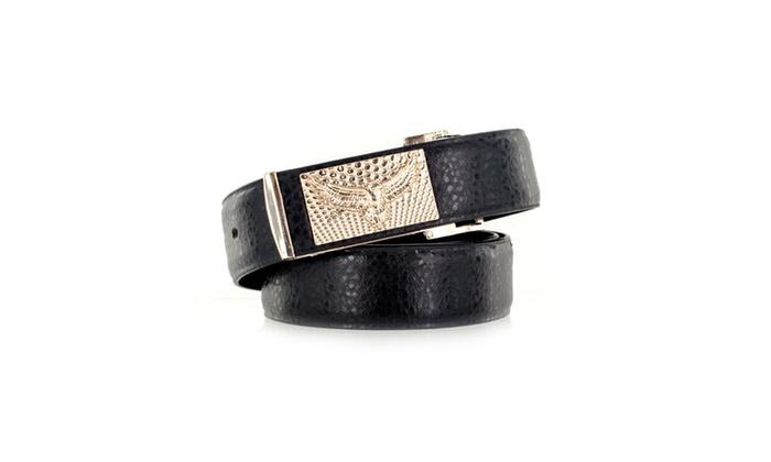 Faddism Men's Genuine Leather Belt Eagle