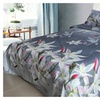 3D Printed Bedding Set With White Lily Pattern