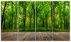 Room Interior in Forest - Landscape Contemporary Metal Wall Art