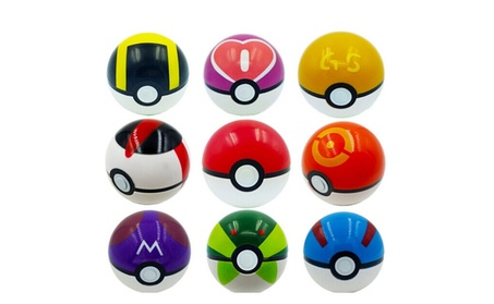 9 Pieces Super Anime Pokemon Ball Figures Toys For Kids fe049127-d8a1-4217-9a94-11cf9802fee9