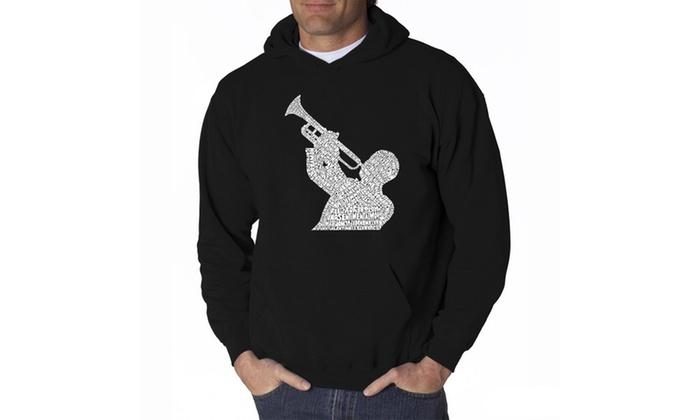 Men's Hooded Sweatshirt - ALL TIME JAZZ SONGS