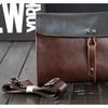 Men Crossbady Bag Big Wallet Cowhide Casual