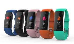 TechComm BFIT Water-resistant Fitness Tracker Heart Rate Monitor Color Display