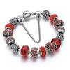 Jungle Sterling Silver Ruby Desire Charm Bracelet