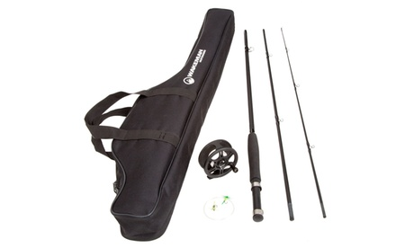 Wakeman Charter Series Fly Fishing Combo with Carry Bag - Black 1a61a053-b249-4e78-b1a7-21c87c4117d4