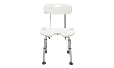 Shower Seat Adjustable Bath Seat Slip Resistant Shower Chair Removable Back Rest