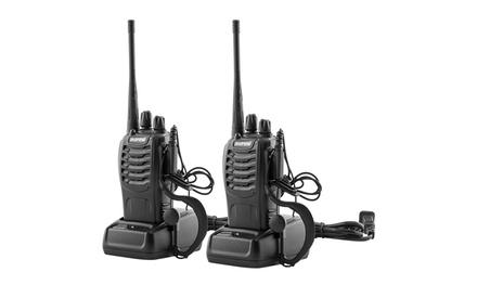 Baofeng 5W 400-470MHz Handheld Walkie Talkie Black (2pcs/Pair)