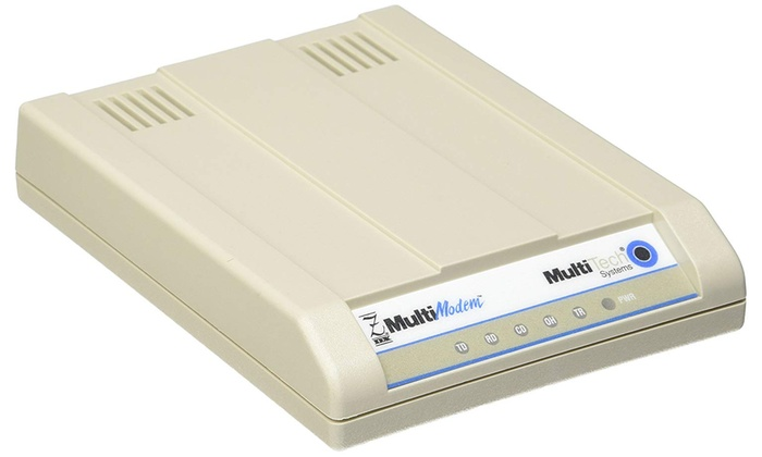 MultiTech MultiModemZDX Data Fax Modem Serial 2 X RJ 11 1 DB