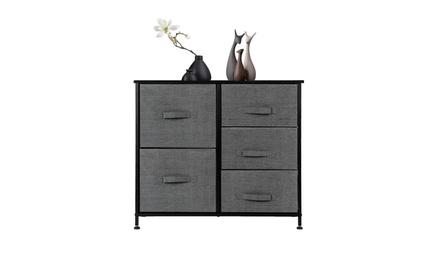 2/3/5-Drawers Non-Woven Fabric Dresser Tower Shelf Storage Organizer