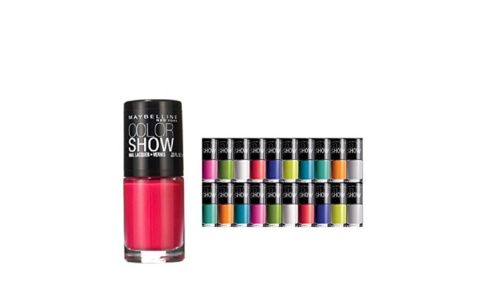 10-Pack Maybelline Color Show Nail Polish Set (Assorted Colors ...