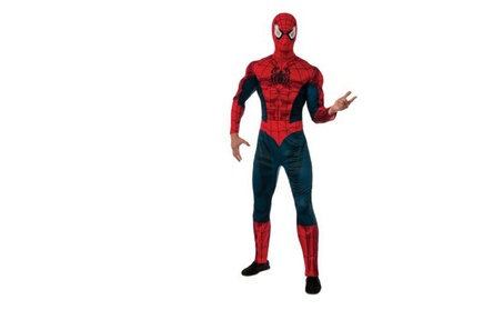 Deluxe Muscle Chest Spider-Man Adult Halloween Costume - Standard 938380c1-4e9c-4b1d-bcd2-a7cb3f4348d7