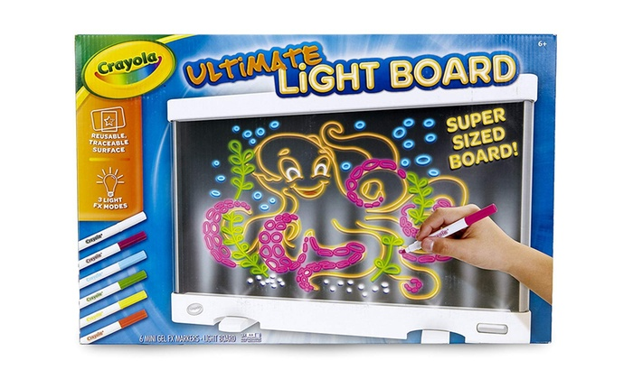 Up To 16 Off On Crayola Ultimate Light Board Groupon Goods
