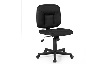 Costway Mesh Computer Low Back Adjustable Task Chair Armless Home Office