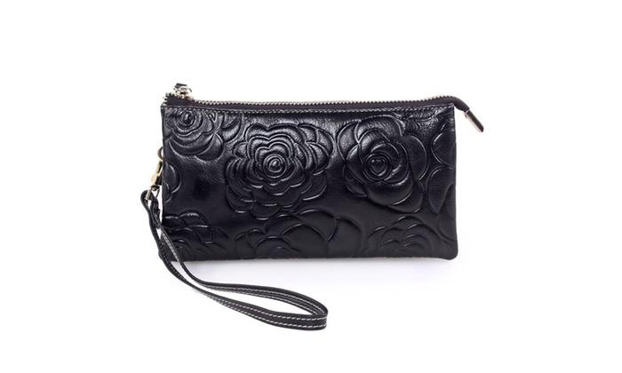 Women's Zipper Leather Wallet