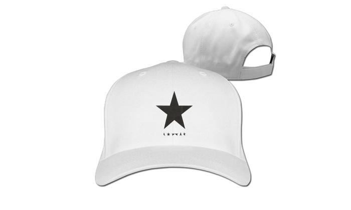 Unisex David Bowie Black Star Girls Jr Printed Baseball Cap Hats White