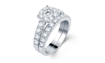 2 CTTW Round Diamond Bridal Set in 10K Gold - BS14896W