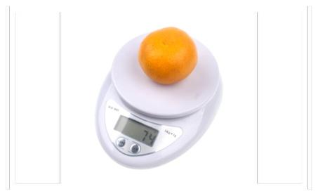 Digital scale Kitchen Food Diet Postal Scales balance weight - White photo