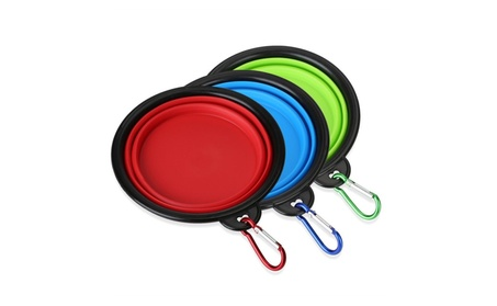 Foldable Pet Dog 3 Portable Travel Collapsible Bowl for Food & Water 965e72b0-d67e-4339-8125-d1a05e1f1cd2