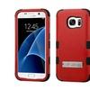 Insten Hard Hybrid Case W/stand For Samsung Galaxy S7 Red/black