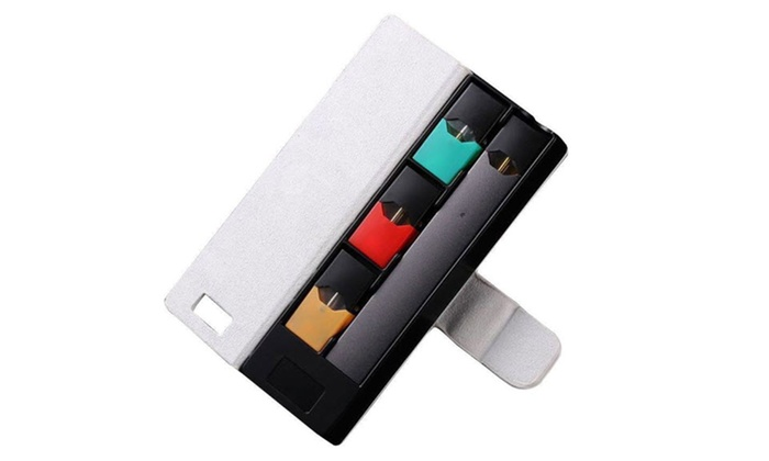 lowest price 09511 7a21b Juul Portable Charging Leather Case Pod Holder With LCD Indicator