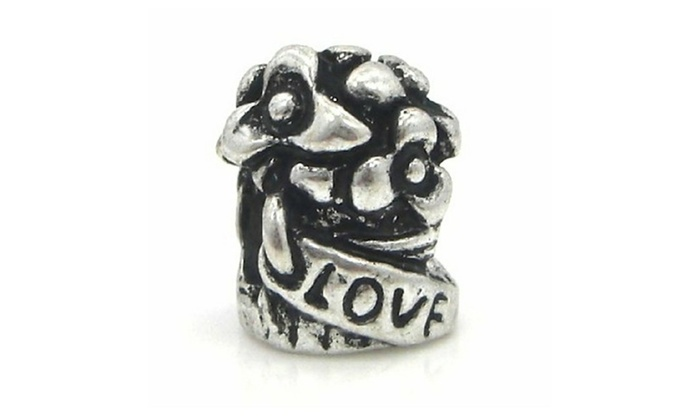 b8bea73f5 Pandora Fit Antique Sterling Silver Love Flower Bouquet Charm | Groupon