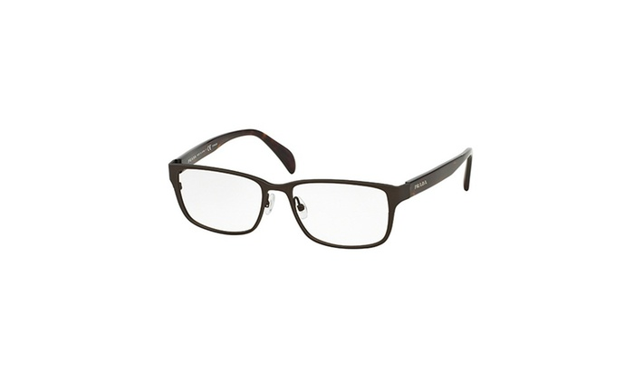 Prada Eyeglasses PR58RV IAK101 53 Matte Brown Frame / Clear Lenses ...