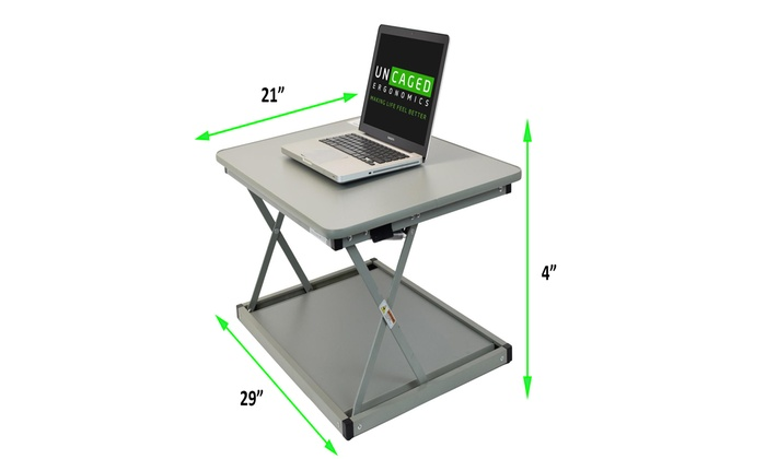 CHANGEdesk MINI small compact standing desk converter for