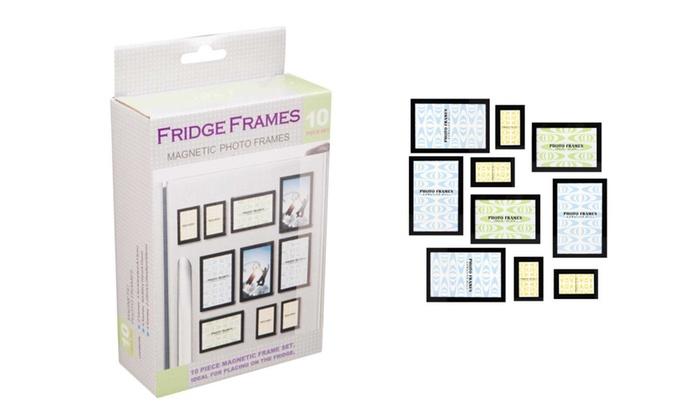 10 Pieces Modern Design Fridge Magnetic Photo Frames Set | Groupon