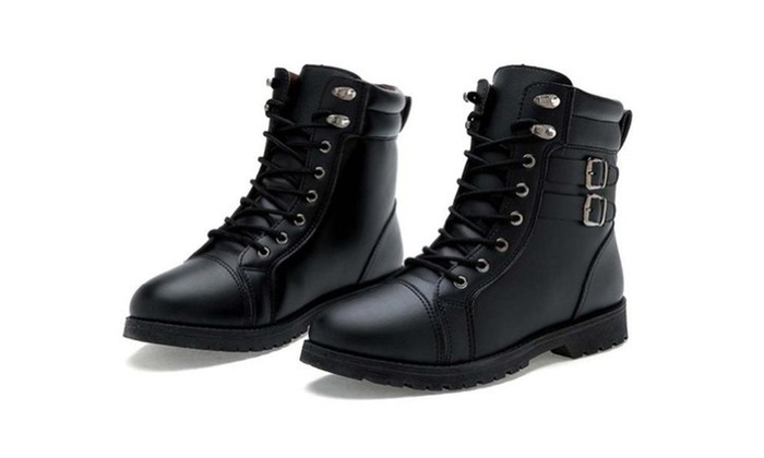 Men's Shoes Ankle-high Martin Boots Army Boots