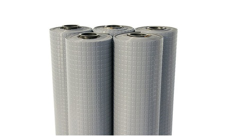 Rubber-Cal Block-Grip Rubber Flooring Rolls - Dark Gray, 240 x 48 in.