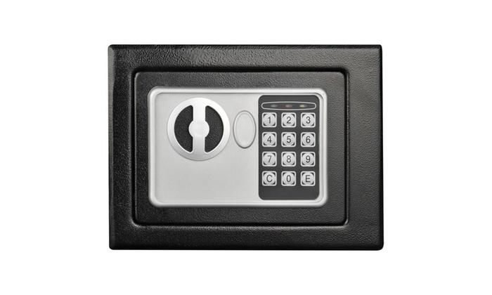 Electronic Deluxe Digital Steel Safe Black