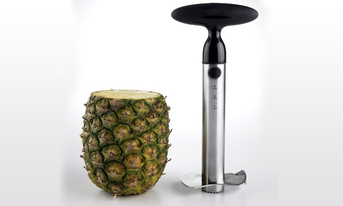 how to cut a pineapple with a corer