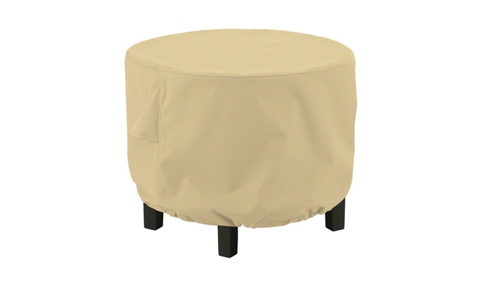 Groupon Goods Classic Accessories Terrazzo Round Ottoman Coffee Table Cover