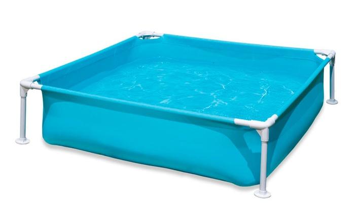 Swimming Pool Mini Frame 48x12in Rectangular Steel Horizontal Beams