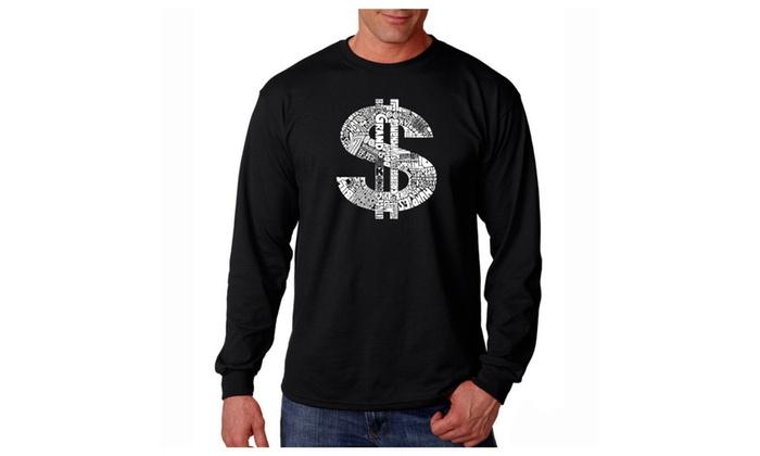 Men's Long Sleeve T-shirt - Dollar Sign