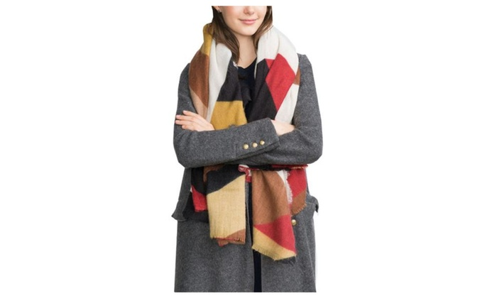 Women's Medium Style Insulated Colorblock Casual Scarf – Multicolor / One Size