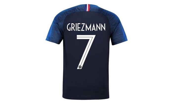 new product a70a3 d2703 Nscle 2018 National Soccer Team France Griezmann 7 Home Jersey