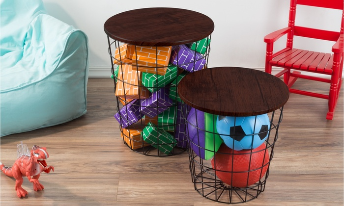 Terrific Up To 51 Off On Lavish Home End Table 2 Piece Groupon Goods Squirreltailoven Fun Painted Chair Ideas Images Squirreltailovenorg