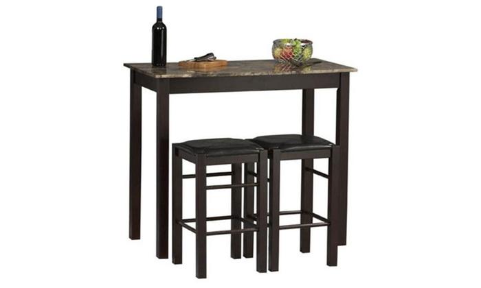 Linon Home Decor Products 02859set 01 Kd U Three Piece Tavern Set