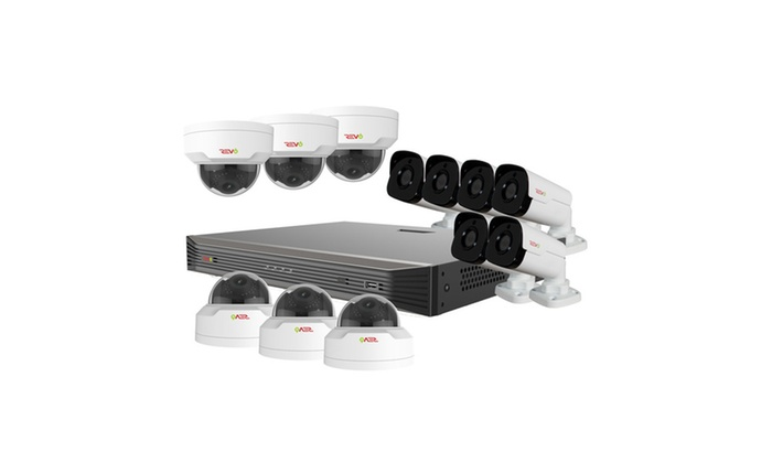 Ultra HD 16 Ch. 4TB NVR Surveillance System w/ 12 4 Megapixel Cameras