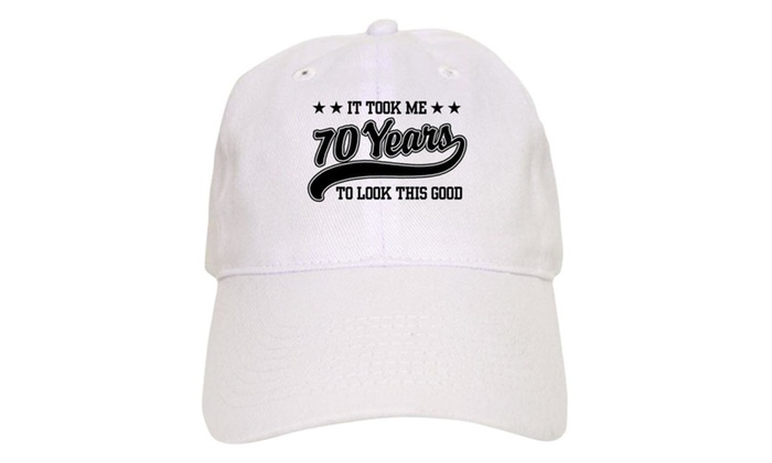 Funny 70th Birthday Cap With Adjustable Printed Baseball Hat