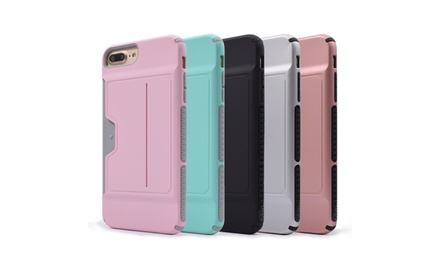 Waloo Credit Card Back-Cover Case for iPhone 6, 6+, 7, 7+, 8, and 8+