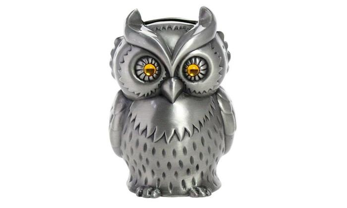 Vintage Engraved Metal Owl Piggy Bank Groupon