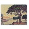 Paul Signac 'Umbrella Pines at Caroubier' Canvas Art