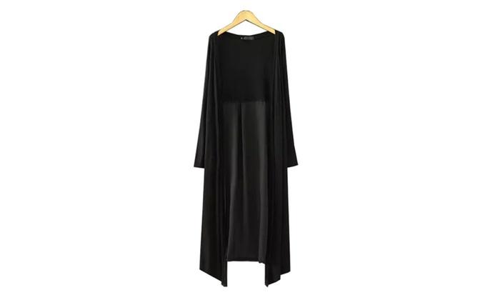 Women's Slim Fit 1/2 Sleeve Slips On Over Head Cotton Coats