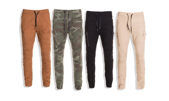 Men's Cargo Joggers with Pockets