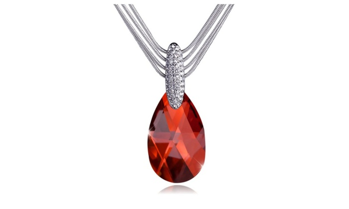 T400 jewelers crystal teardrop pendant necklace groupon t400 jewelers crystal teardrop pendant necklace mozeypictures Choice Image