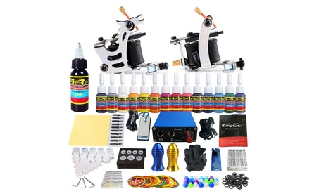 Solong Tattoo Starter Tattoo Kit 2 Machine Guns 14Colors Inks Power 2ccacfa1-bd63-4319-89b3-8547306779d1