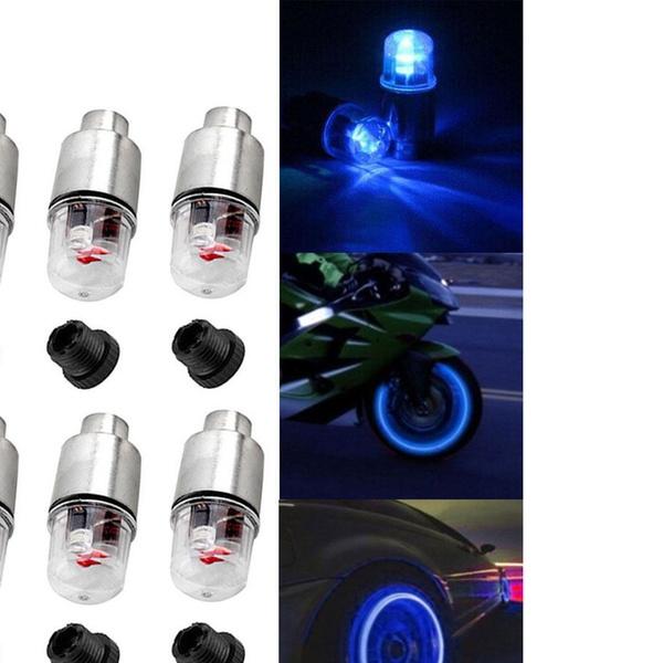 LED Light Valve Cap Bike Car Wheel Motocycle Lighter Tire Night Neon Flash Lamp