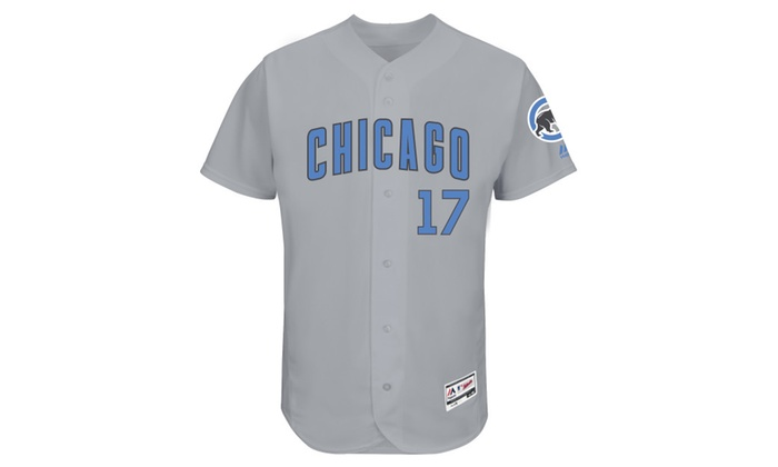 sports shoes 93fac ff273 Mens Chicago Cubs Kris Bryant Gray Father's Day Jersey | Groupon
